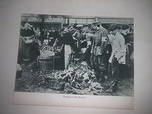Marktszene in St. Quentin.: Pressefoto/ Propagandafoto/Aush�ngefoto f�r die Wochenschau