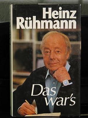 Das war's.: R�hmann, Heinz