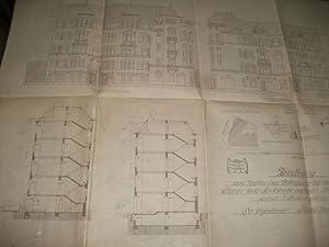 Zeichnung zum Neubau eines Wohnhauses auf dem Grundstück Kleiststr.- Ecke Forststraße zu...