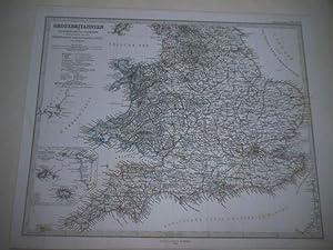 Grossbritannien. Südliches Blatt. England (ohne die nördlichen Grafschaften und Wales)