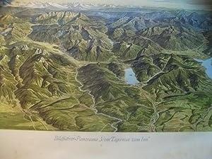 Bayerische Allgäu, Das.: Panoramakarte