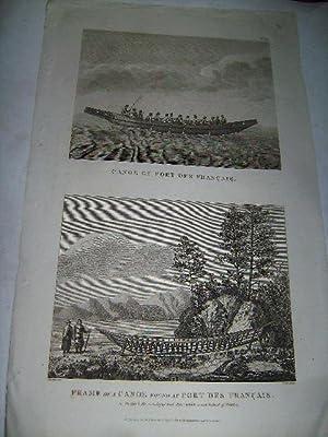 Canoe of Port des Francais. Frame of a canoe found at Port des Francais.