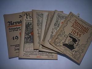 Sammlung von 8 Schweizer Kalendern.: Kalender.