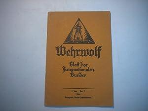 Wehrwolf. Blatt des Jungnationalen Bundes.
