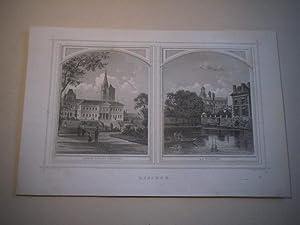 Lisieux. Jardin public tribunal. La Touques.
