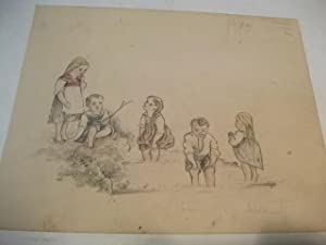 5 Kinder am Teich.: Hofmann, Franz ?