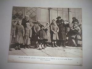 Vor den Bolschewicki geflüchtete Landbevölkerung auf der Rückreise in das durch ...