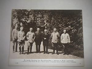 Die finnische Abordnung beim Generalfeldmarschall v. Hindenburg im Großen Hauptquartier.: ...