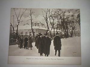 Mitglieder der russischen Delegation auf dem Wege zum Sitzungssaal.: Pressefoto/ Propagandafoto/...