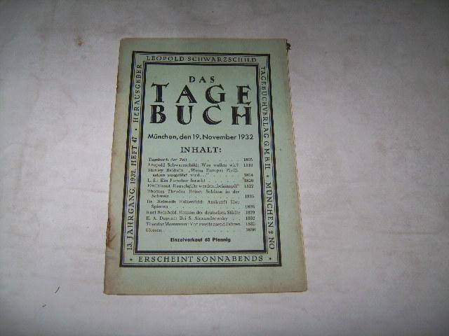 Das Tagebuch.: Schwarzschild, Leopold (Hg.)
