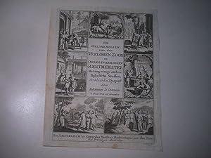 De Gelykenissen van den verloren Zoon . Nur das Titelblatt.: D' Outrein, Iohannes.