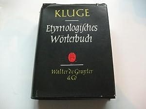 Etymologisches Wörterbuch der deutschen Sprache.: Kluge, Friedrich