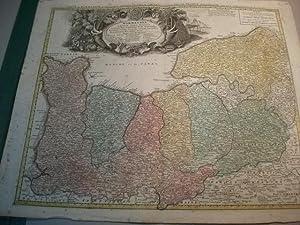 Normannia Galliae celebris Provincia in terras suas et Ballifiatis divisa, ex prototypo de l'...