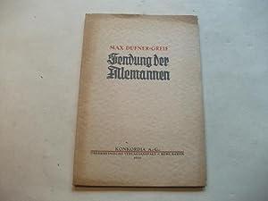 Sendung der Alemannen.: Dufner-Greif, Max