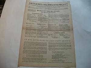 der Behörden der Reichsmessestadt Leipzig und des Landrats zu Leipzig.: Amtliches ...