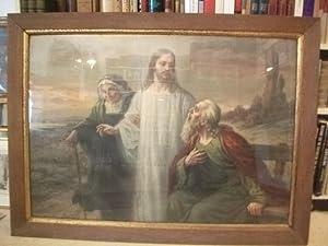 Jesu mit altem Ehepaar.: Roth, L.M.