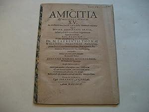 De Amicitia questiones ethicae XV.: Moscherosch, Johannes Michael