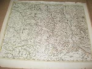 Troissime partie du cours de la Meuse avec les Pais voisins.: Sanson