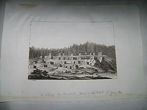 Le village de Chelaski dans le d troit d'Johnston.