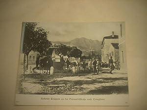 Rastende Truppen an der Vormarschstraße nach Conegliano.: Pressefoto/ Propagandafoto/...