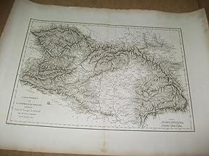 Carte physique de l'Empire d'Autriche rédigée pour le voyage en Austriche ...