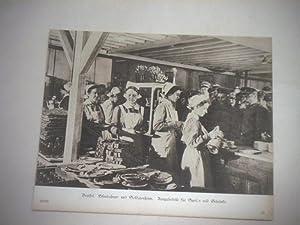 Brüssel. Eisenbahner- und Soldatenheim. Ausgabestelle für Speisen und Getränke.: ...