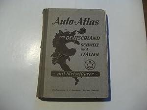 Auto-Atlas von Deutschland, Schweiz und Italien mit Reiseführer.: Oestergaard, Peter (Hg.)