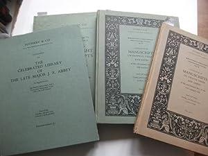Sammlung von 4 Katalogen.: Sotheby