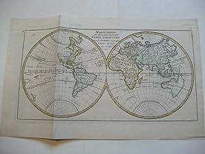 Mappe Monde ou description du globe Terrestre.: Weltkarte
