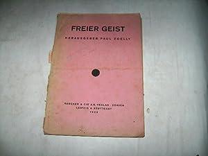 Freier Geist.: Zoelly, Paul (Hg.)