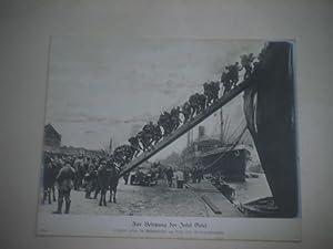 Zur Besetzung der Insel Oesel. Truppen gehen: Pressefoto/ Propagandafoto/Aushängefoto für