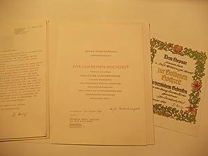 Sammlung von 3 Glückwünschen.: Zur Goldenen Hochzeit