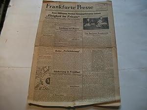 Frankfurter Presse. Alliiertes Nachrichtenblatt.: Amerikanische 12. Heeresgruppe für die ...