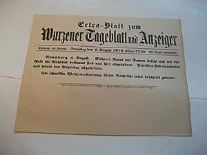 zum Wurzener Tageblatt und Anzeiger.: Extra-Blatt