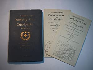 Schweizerische Verkehrs-Karte mit Orts-Lexikon. Berge, Pässe- und: Jacot, Arthur