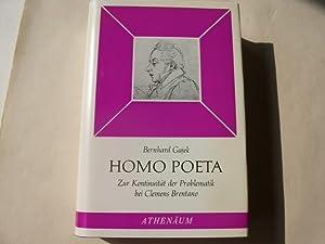 Homo Poeta. Zur Kontinuität der Problematik bei Clemens Brentano.: Gajek, Bernhard