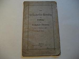 Zum zweihundertsten Gedenktag der Zerstörung der Reichsstadt Offenburg am 9. September 1689.: ...