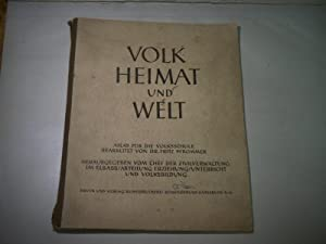 Volk, Heimat und Welt. Atlas für die Volksschule.: Prommer, Fritz.