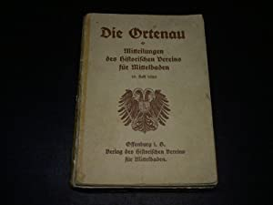 Die Ortenau. 1929. Mitteilungen des Historischen Vereins für Mittelbaden.