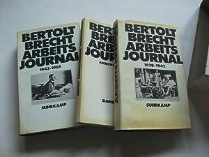 Arbeitsjournal. 3 Bände: 1938-1942. 1942-1955. Anmerkungen.: Brecht, Bertolt