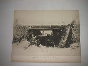 Waffenruhe in einem verschneiten Artillerie-Unterstand.: Pressefoto/ Propagandafoto/Aushängefoto ...
