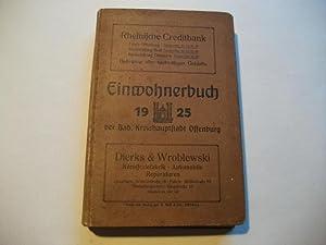 Einwohnerbuch der Bad. Kreishauptstadt Offenburg 1925.