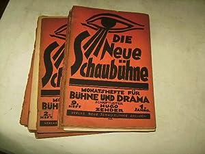 Die Neue Schaubühne. Monatshefte für Bühne und Drama.: Zehder, Hugo