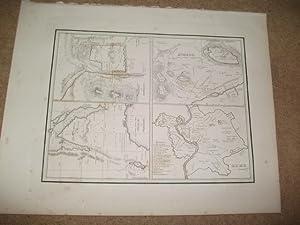 Stadtpläne von Rom, Athen,Jerusalem, Detailkarte von Sinai.: Europa