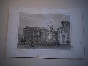 Falaise. Hotel de Ville et Statue de Guillaume le Conquérent.