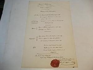 Auszug aus dem Taufregister.: Alte Handschrift