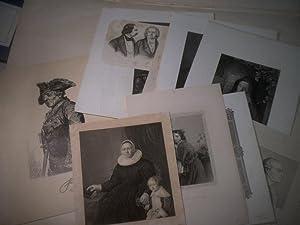 Sammlung von 16 Portraits.