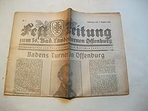 Fest-Zeitung zum 14. badischen Landesturnen Offenburg.: Hauptausschus des 14. badischen ...