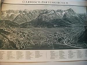 Garmisch-Partenkirchen.: Panoramakarte