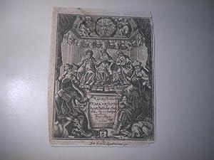Hierarchia Politica. Standt Weltlicher Obrigkeit. In 52 Predigten erklärt.: Albrechts, M. ...
